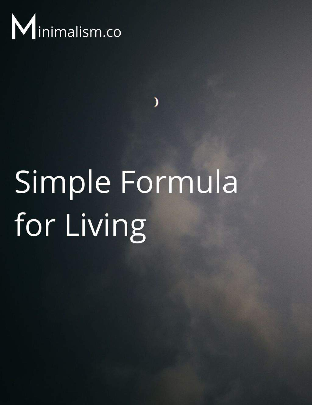 Simple Formula For Living Poster Cover